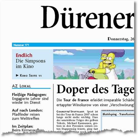 Jamboree Zeitungsartikel Titelseite