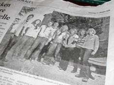 Dürener Zeitung 2008-10-21 Rover blicken stolz auf ihre neue Feuerstelle - Ambient Foto